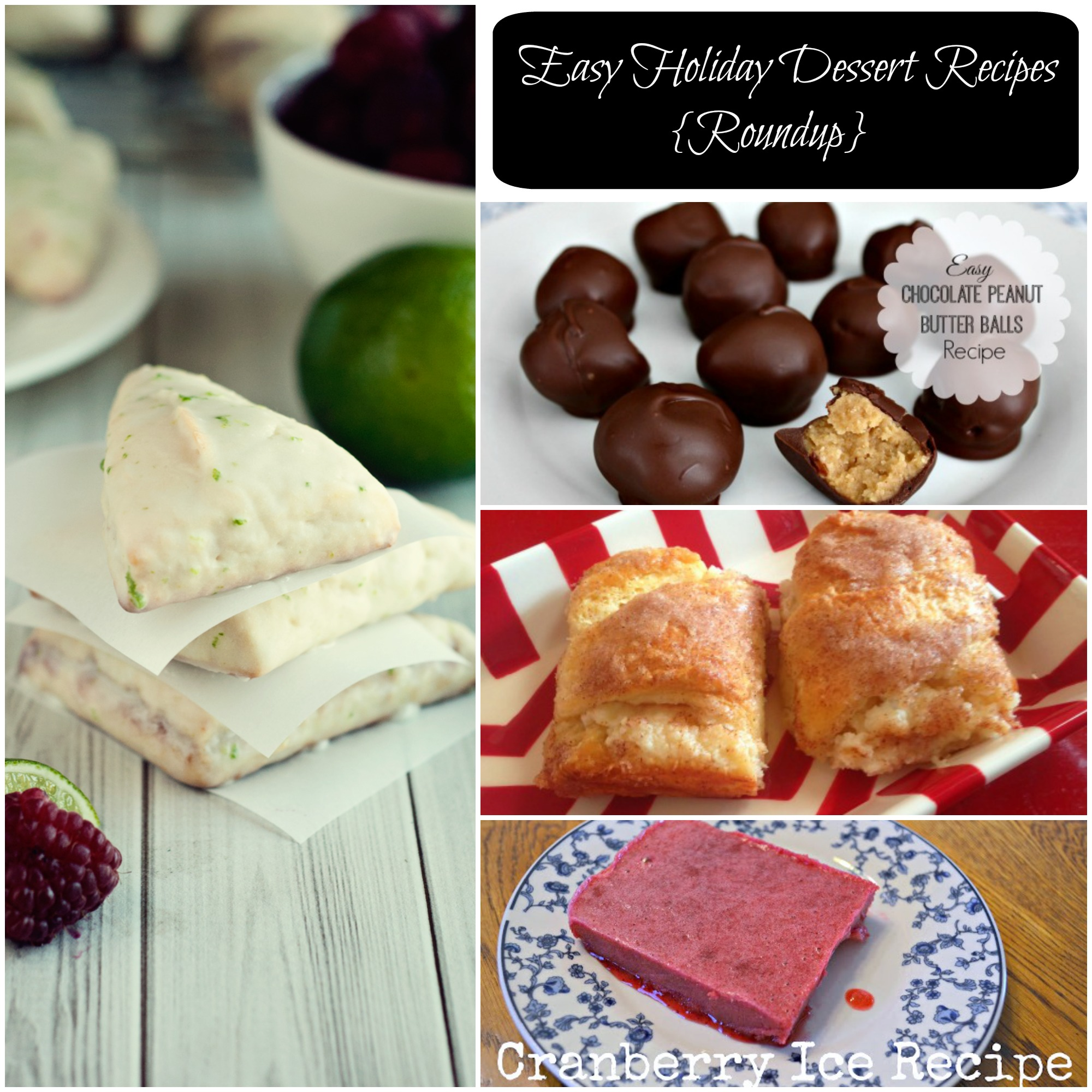 holiday desserts, easy dessert ideas
