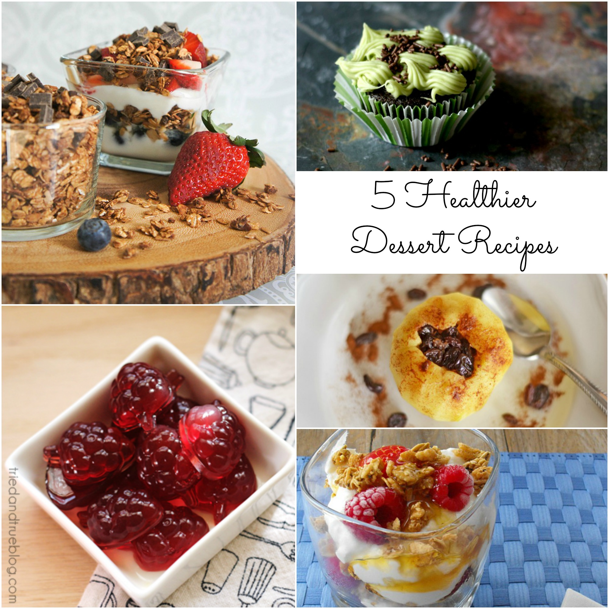 healthier desserts, dessert recipes, fruit snacks, cupcakes, granola