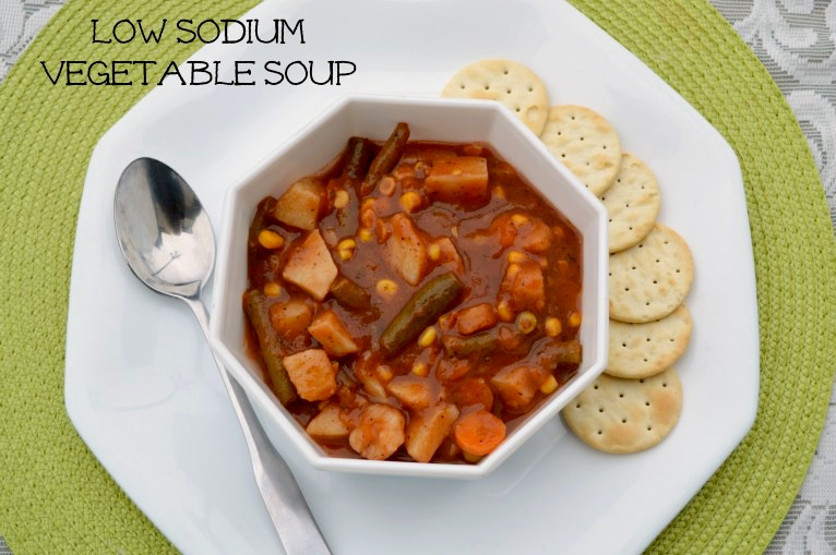 vegan vegetable soup, low sodium recipe