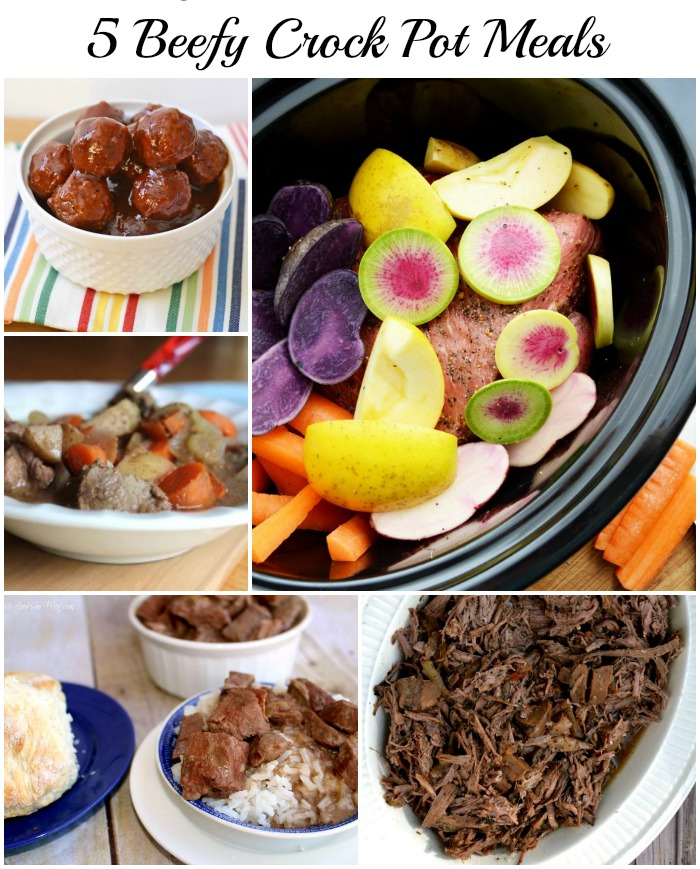 5 Beefy Crock Pot Meals perfect for dinner