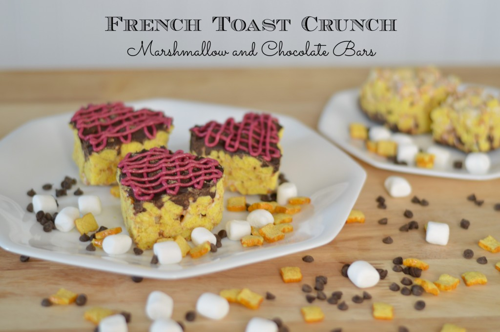 No-Bake French Toast Crunch Marshmallow and Chocolate Bars