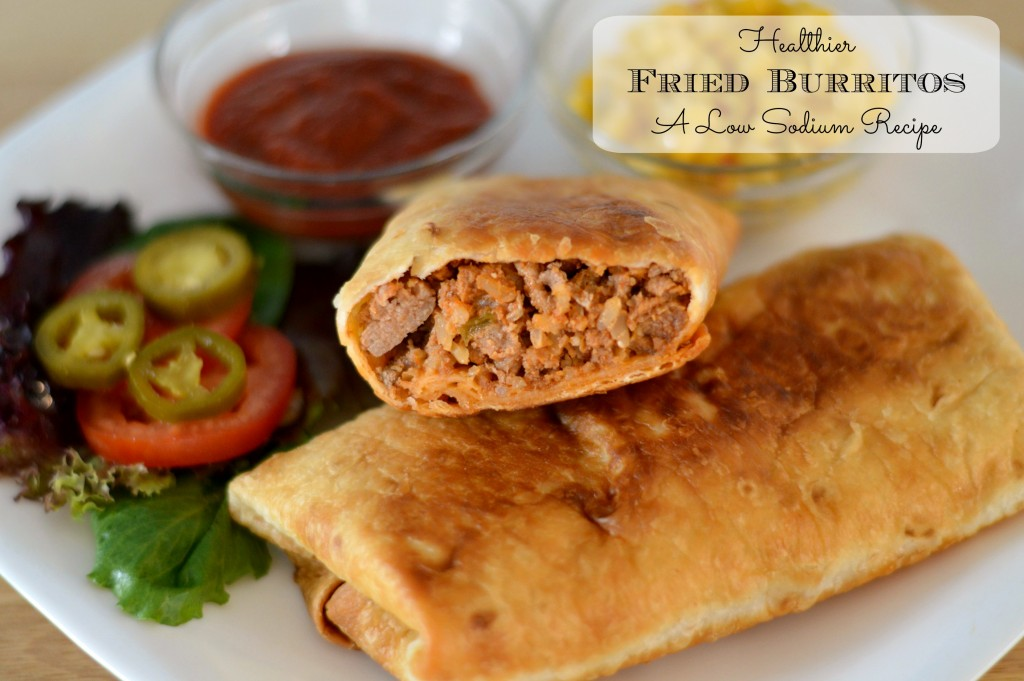 Healthier Fried Burritos: A Low Sodium Recipe #SoFab