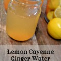 Lemon Cayenne Ginger Water