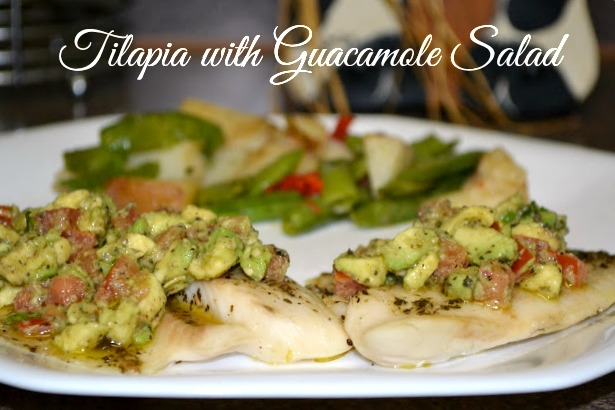 Healthy and Delicious Tilapia with Guacamole Salad