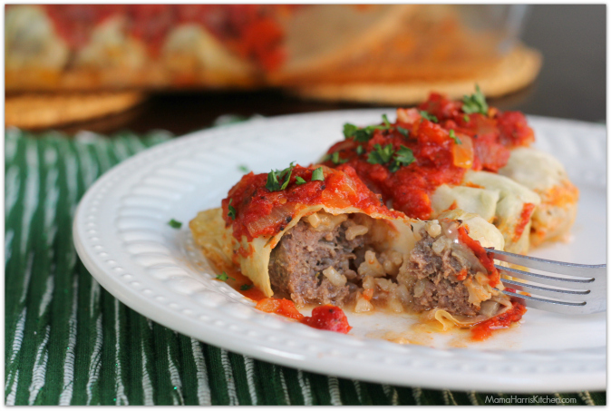 Cabbage Rolls with Brown Rice #ChooseSmart #ad