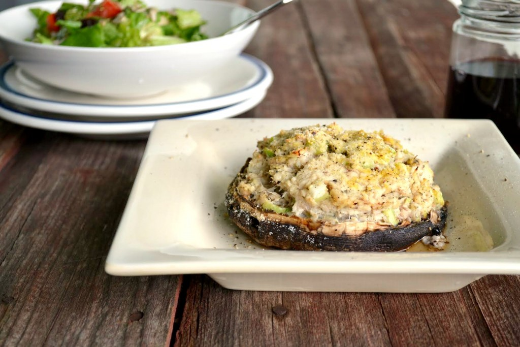 Portobello Stuffed Mushrooms #SoFab