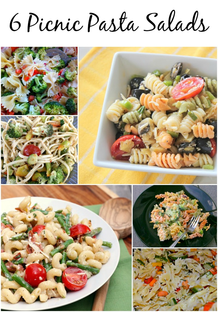 6 Pasta Salads that are perfect for picnics! #SoFab