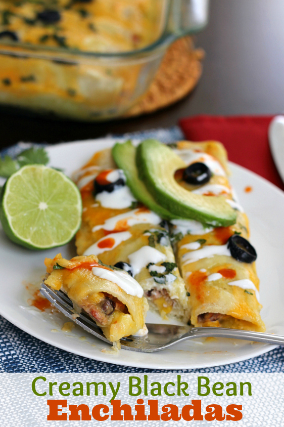 Creamy Black Bean Enchiladas