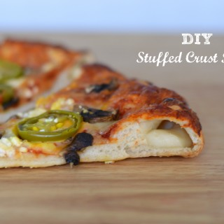 DIY Stuffed Crust Pizza is better than takeout and healthier too