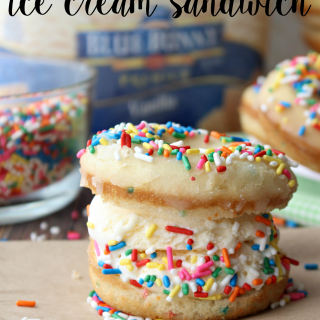 DIY Funfetti Donut Ice Cream Sandwiches