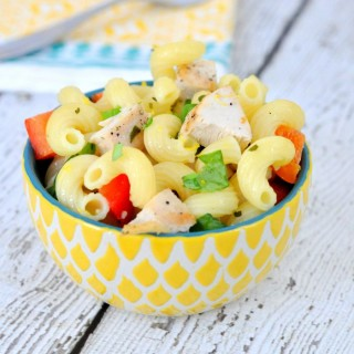 Grilled lemon chicken pasta salad is the perfect option for your next BBQ or picnic!
