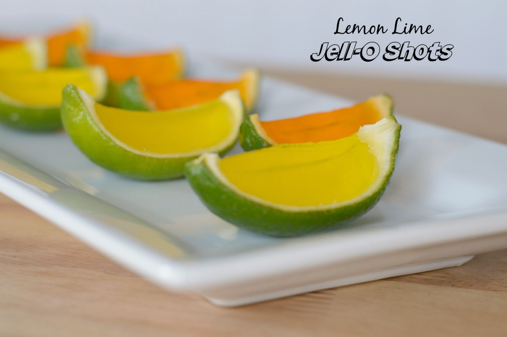 How to make Lemon Lime Jell-O Shots in Lime Peels