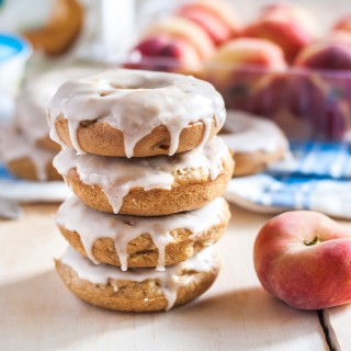 Vegan Peaches and Cream Doughnuts Recipe