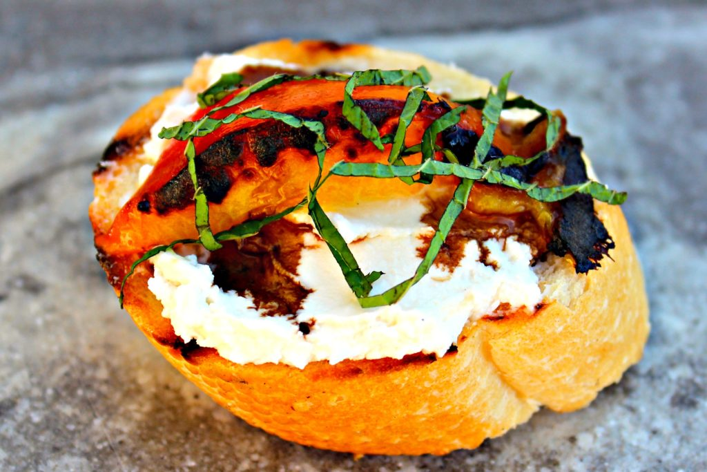 Peach Bruschetta with Creamy Feta and Balsamic ~ Luscious peaches ...