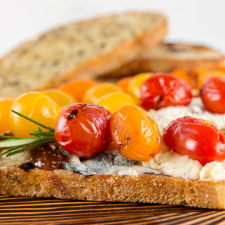 Grilled Cherry Tomato Toasts