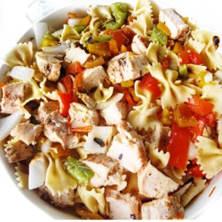 Pasta Salad with Grilled Chicken and Veggies
