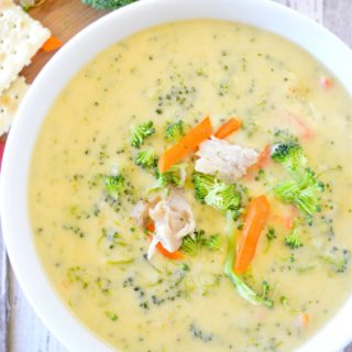 [AD] Chicken Cheddar Broccoli Soup Recipe