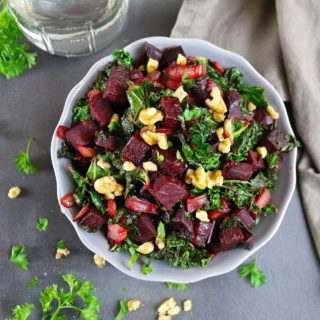 Warm Ginger Beet Kale Salad