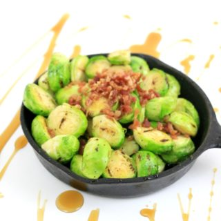 Grilled Maple Bacon Brussels Sprouts