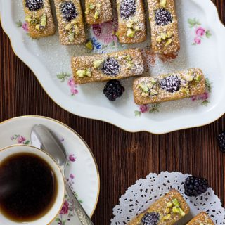 French Financiers with Blackberries