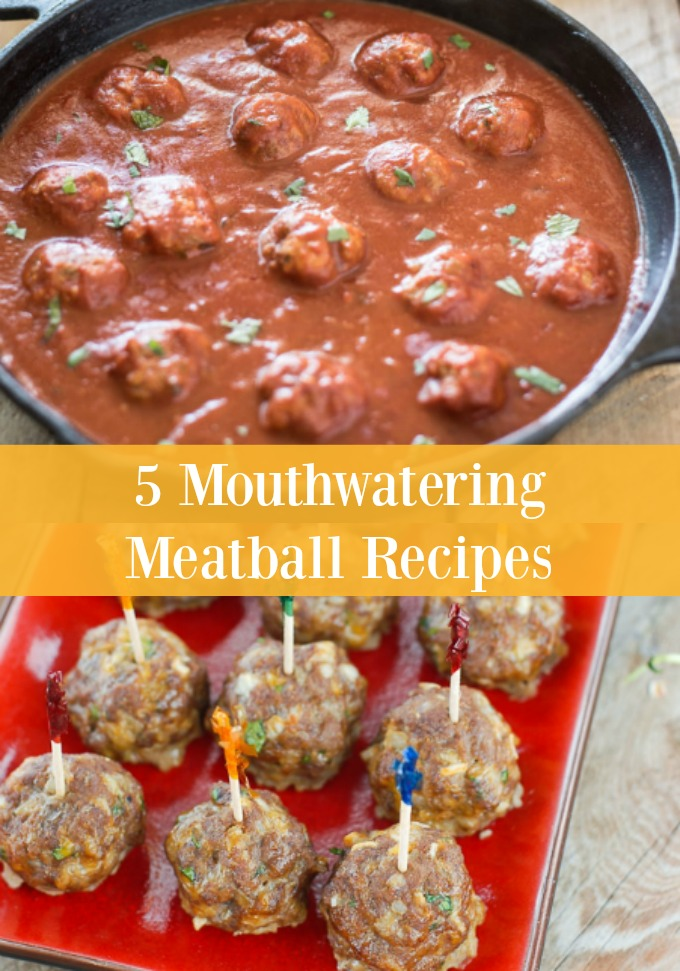Meatballs aren't just for pasta at dinner time. Try something new when you mix up your evening meal with these five mouthwatering Meatball Recipes that are packed full of flavor.