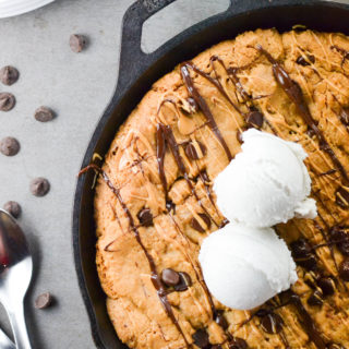 GF Stuffed Chocolate Chip Cookie Skillet