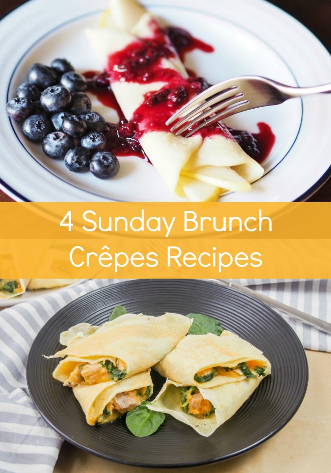 Elevate your morning meal with four easy Sunday Brunch Crepes Recipes full of sweet and savory fillings. Impress friends and family with these elegant, yet simple, dishes!