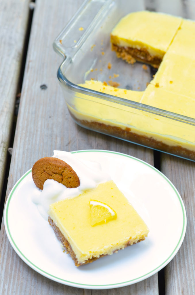 This Gluten-Free Lemon Bars recipe uses store-bought cookies for a crunch and a wheat-free crust. Topped with a homemade tart lemon custard, this is one treat everyone will love!
