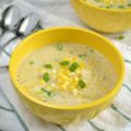 This Vegetarian Corn and Potato Chowder for Two is the perfect sized pot of fresh summery goodness for a date night. A meal like this is perfect for the end of summer, when the days are still warm, but the nights begin to cool off as fall quickly approaches!