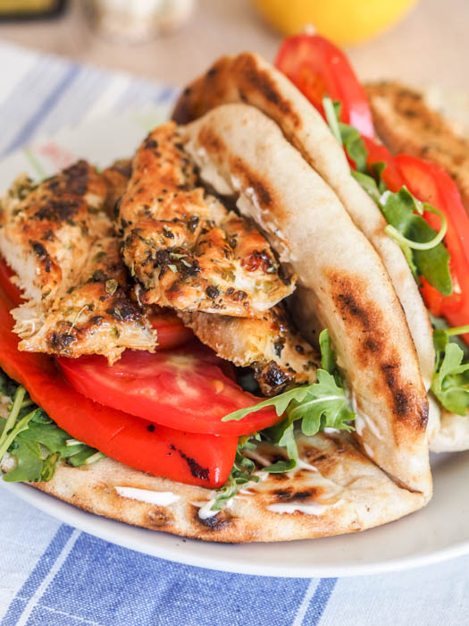 This bright, bold Mediterranean Chicken Breasts recipe full of lemon, oregano, and garlic is perfect for your weekday sandwiches, salads, and bowls.