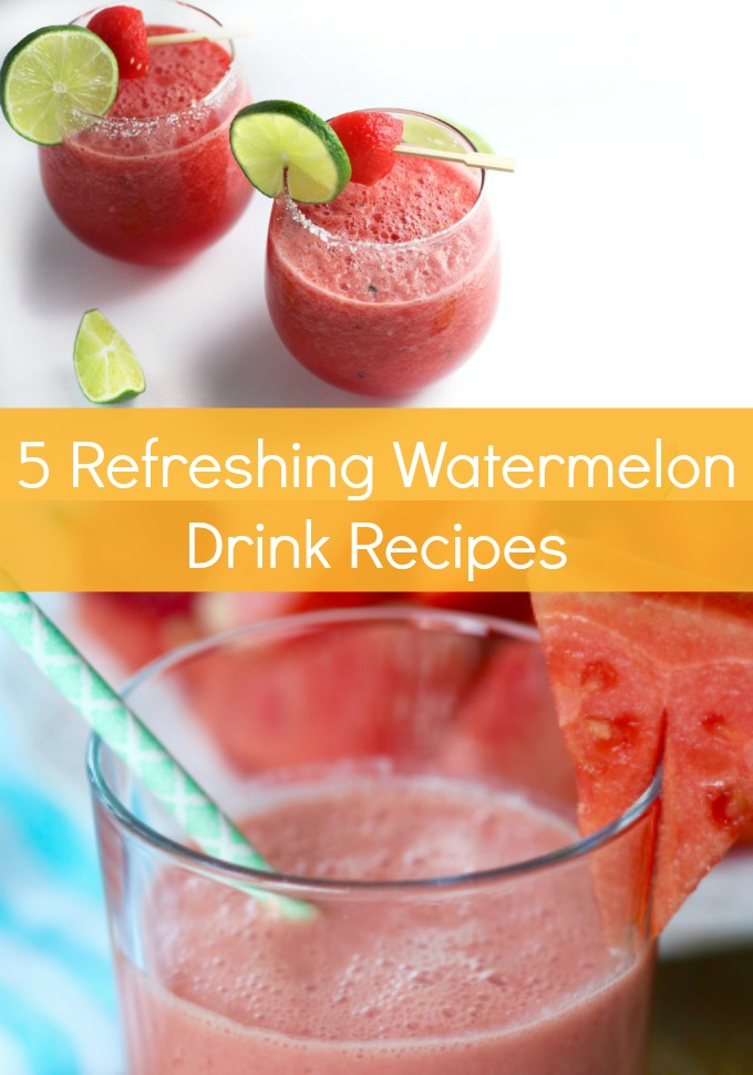 You need these five Refreshing Watermelon Drink Recipes for all of your summer entertaining. Your fresh, farmers market produce is about to get a refreshing makeover!