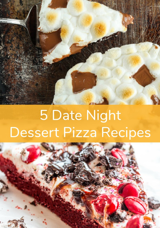 Spending time cooking with your significant other is great for a little romantic bonding at the end of a long day. These five Dessert Pizza Recipes are just what you need to seduce your partner into the kitchen for a foodie inspired Date Night!