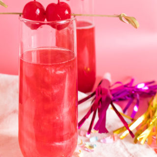 Swirled Cranberry Champagne Cocktail