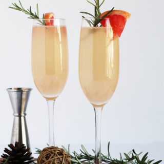 Rosemary Citrus Champagne Cocktail
