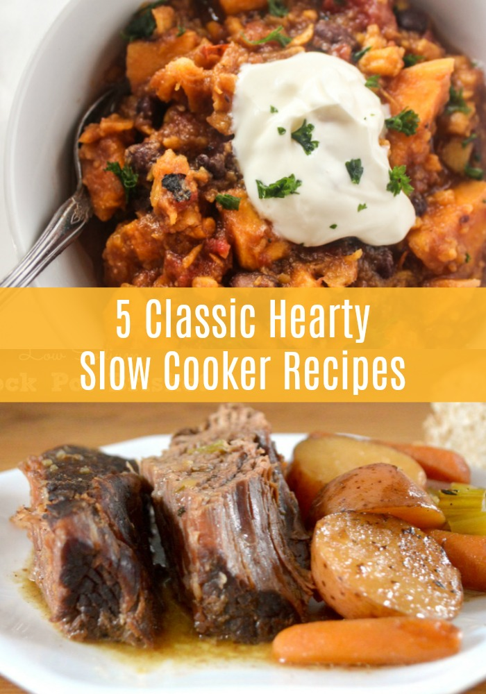 No need to stress over your dinner menu this week with your busy schedule. These five healthier classic slow cooker recipes are here to help! Full of better-for-you ingredients, these are the meals you should try!
