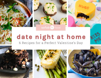 Celebrate the one you love with the perfect Valentine's Day Date Night Menu. This handy, downloadable ebook contains six recipes and it's all you need for the perfect date night at home!